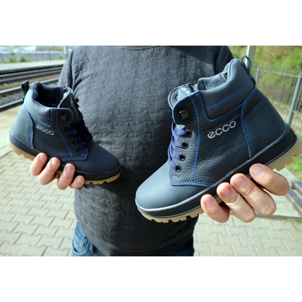 Детские ботинки зимние  - Детские ботинки кожаные зимние синие CrosSav z 37 5