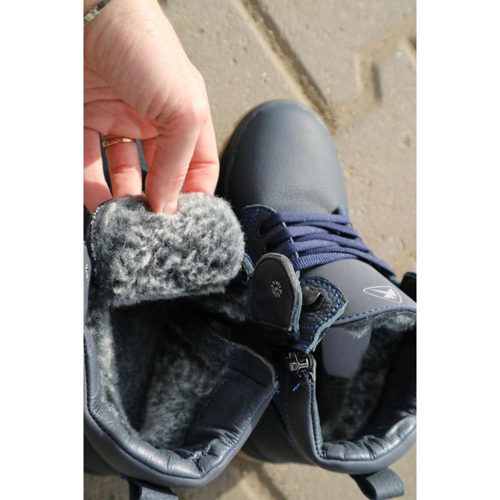 Детские ботинки зимние  - Детские ботинки кожаные зимние синие CrosSav z 37 2
