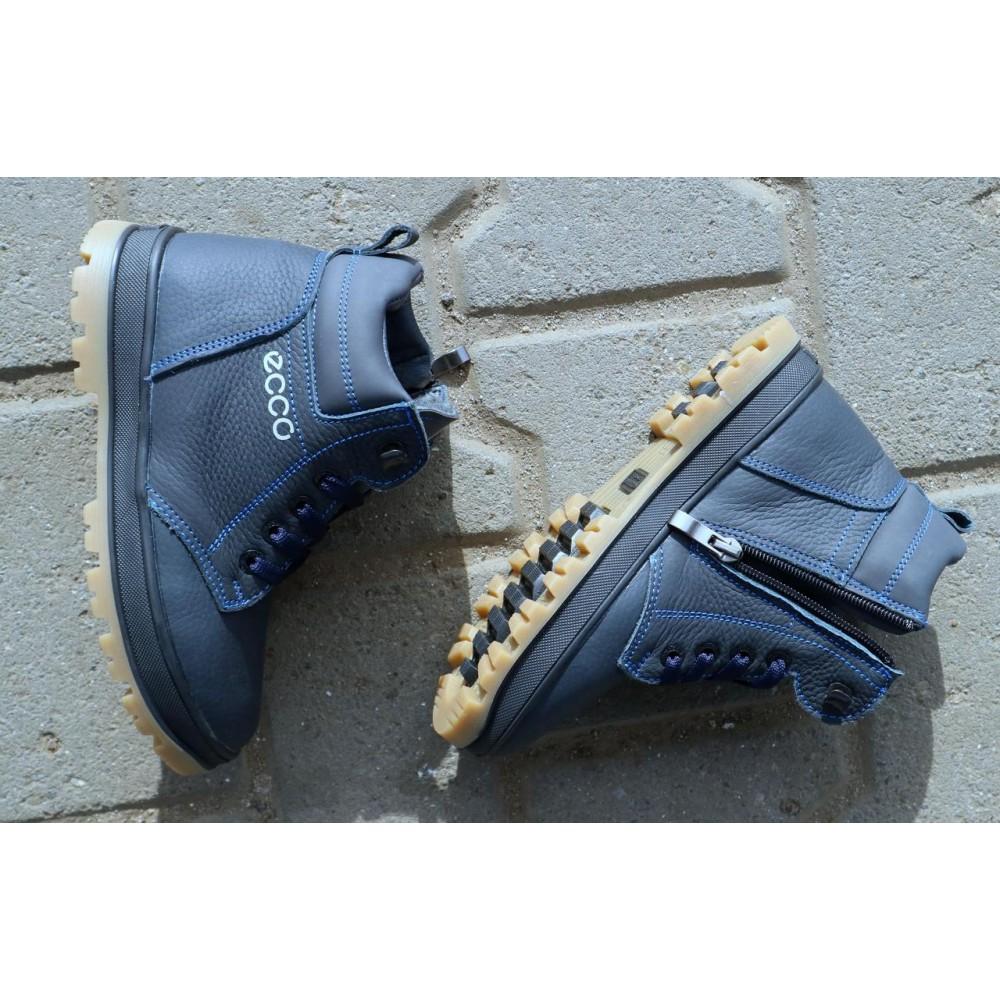 Детские ботинки зимние  - Детские ботинки кожаные зимние синие CrosSav z 37 1