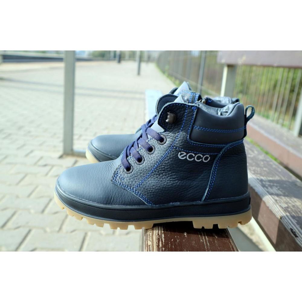 Детские ботинки зимние  - Детские ботинки кожаные зимние синие CrosSav z 37 4