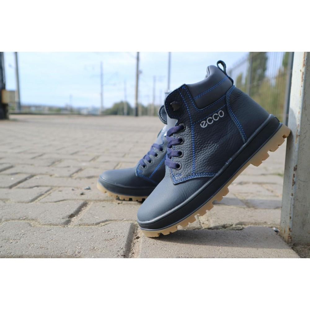 Детские ботинки зимние  - Детские ботинки кожаные зимние синие CrosSav z 37