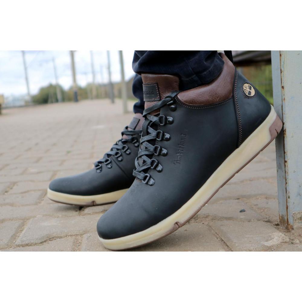 Мужские ботинки зимние - Мужские ботинки кожаные зимние черные-матовые Yuves 773 8