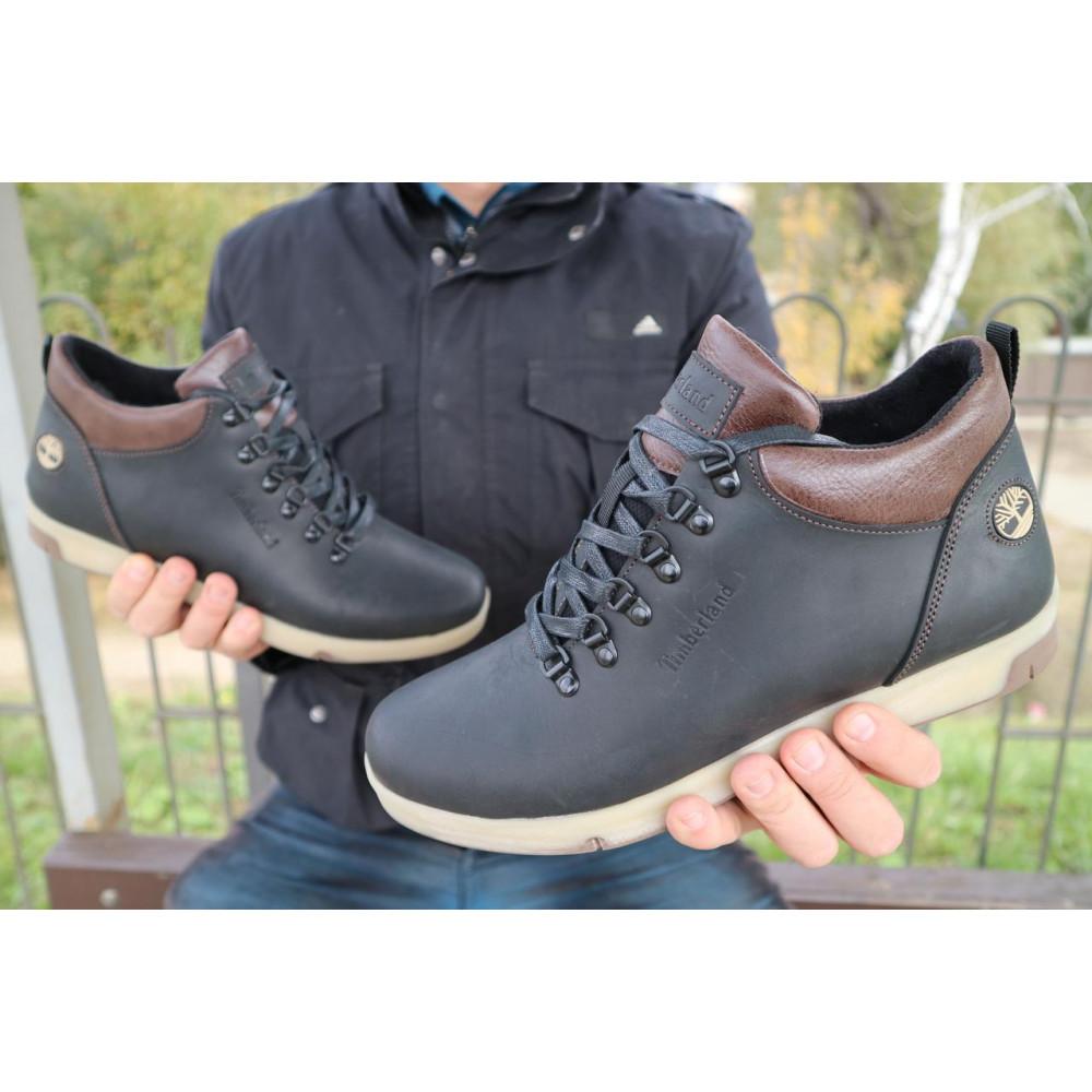 Мужские ботинки зимние - Мужские ботинки кожаные зимние черные-матовые Yuves 773 3
