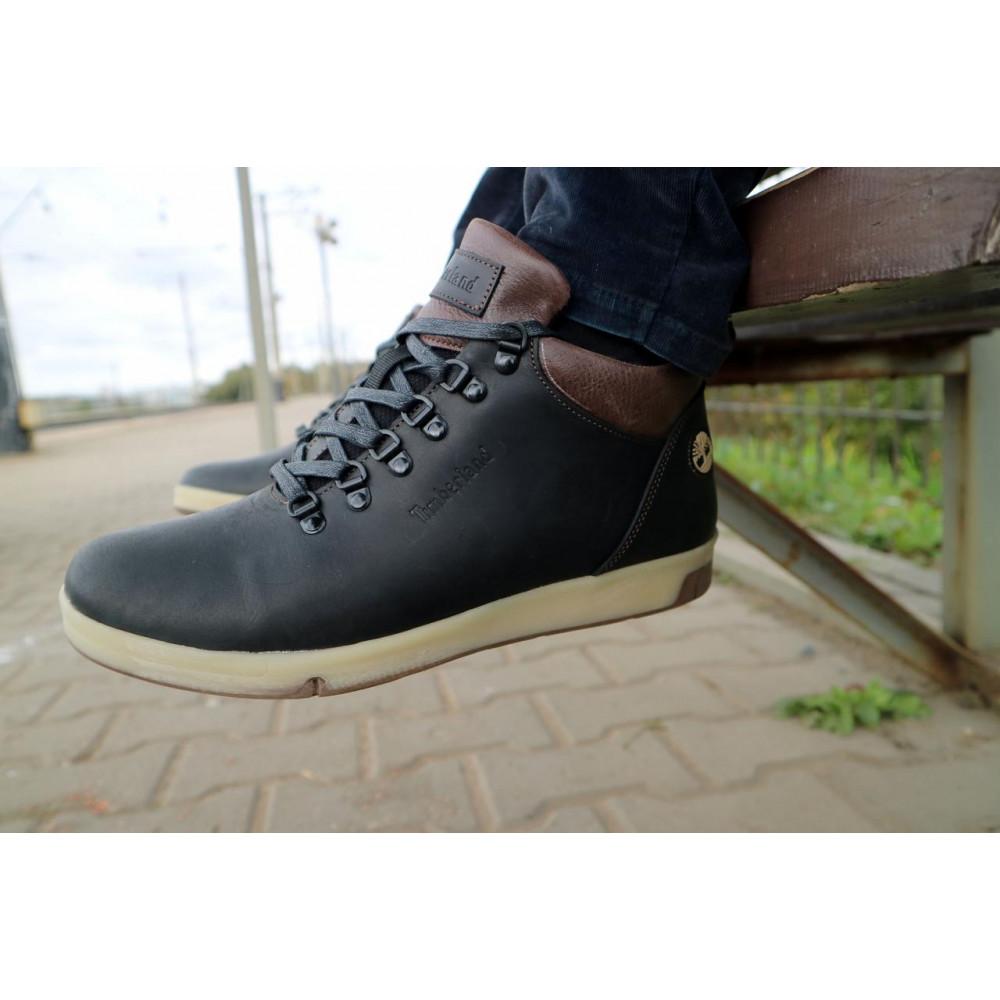Мужские ботинки зимние - Мужские ботинки кожаные зимние черные-матовые Yuves 773 1