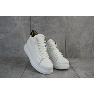 Женские кроссовки кожаные зимние белые Lions AM