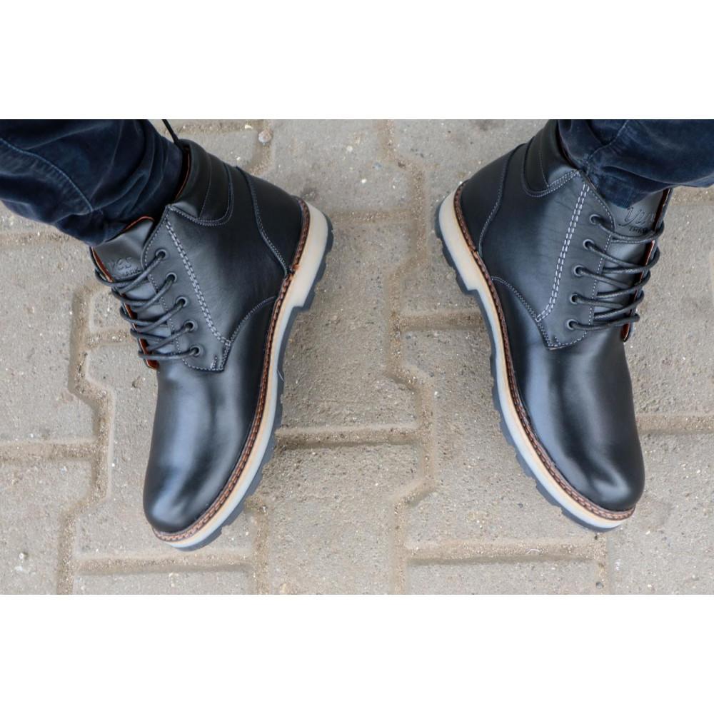 Мужские ботинки зимние - Мужские ботинки кожаные зимние черные Yuves 775 9