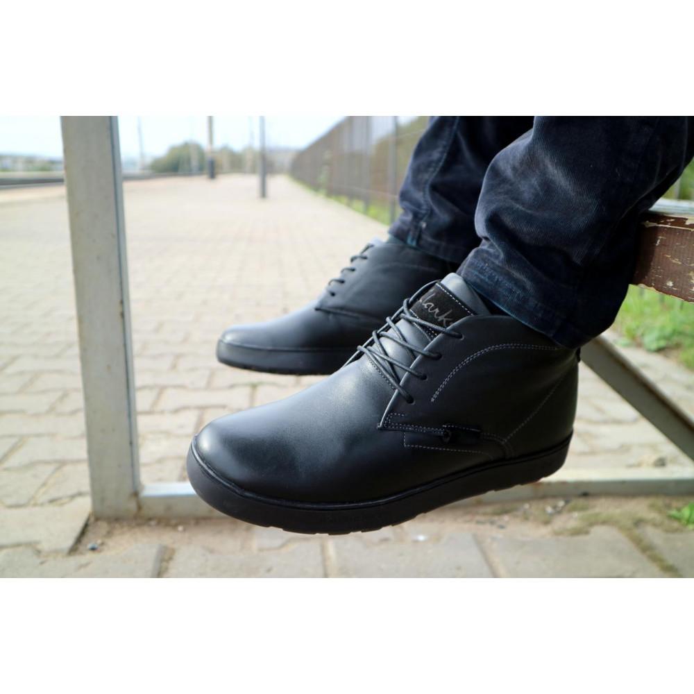Мужские ботинки зимние - Мужские ботинки кожаные зимние черные Yuves 777chorn 3