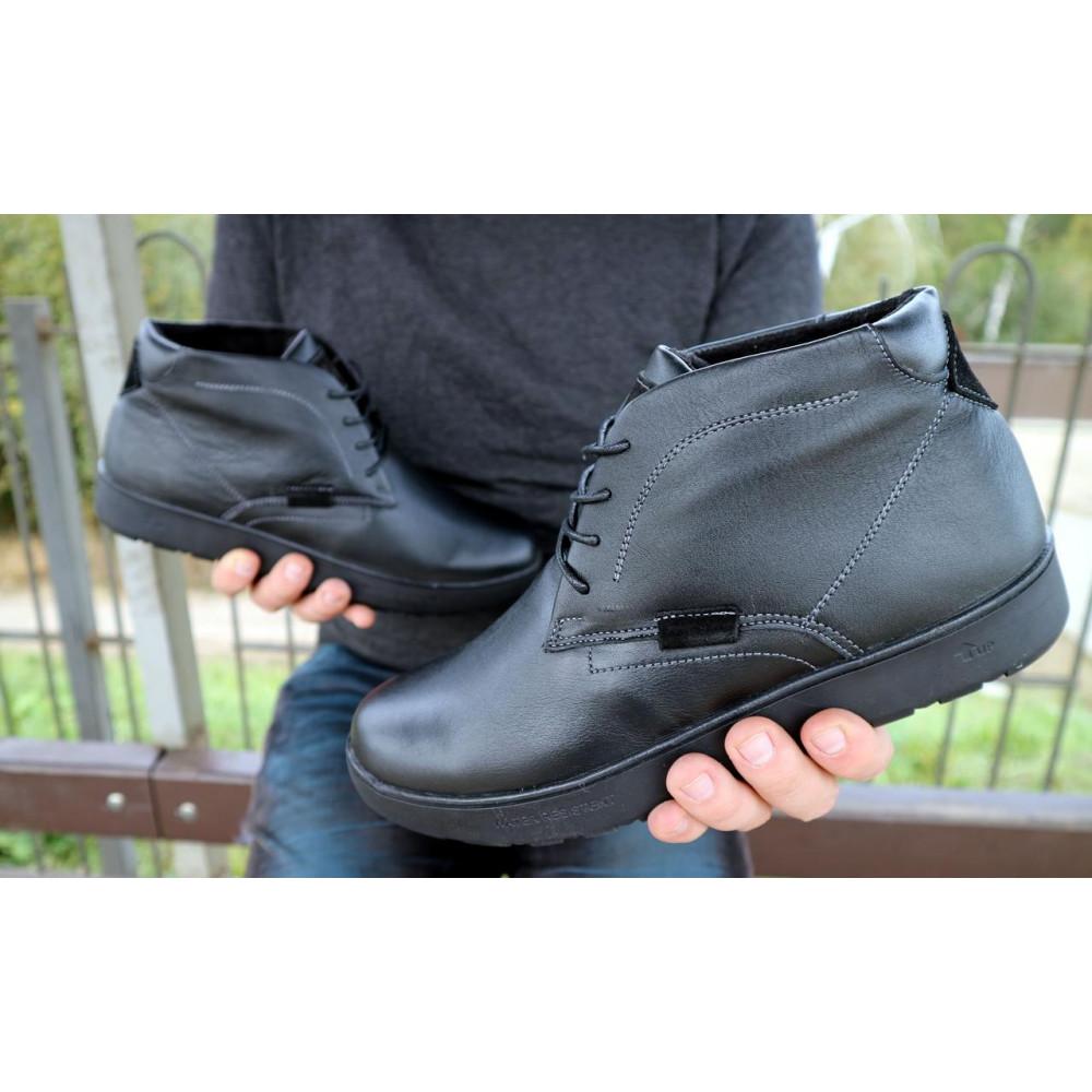 Мужские ботинки зимние - Мужские ботинки кожаные зимние черные Yuves 777chorn 1