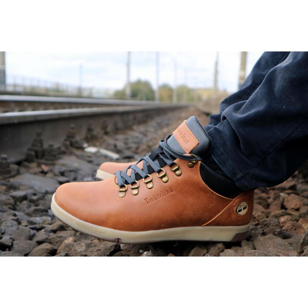 Мужские ботинки зимние - Мужские ботинки кожаные зимние рыжие Yuves 773 9