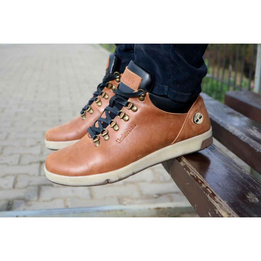 Мужские ботинки зимние - Мужские ботинки кожаные зимние рыжие Yuves 773 7