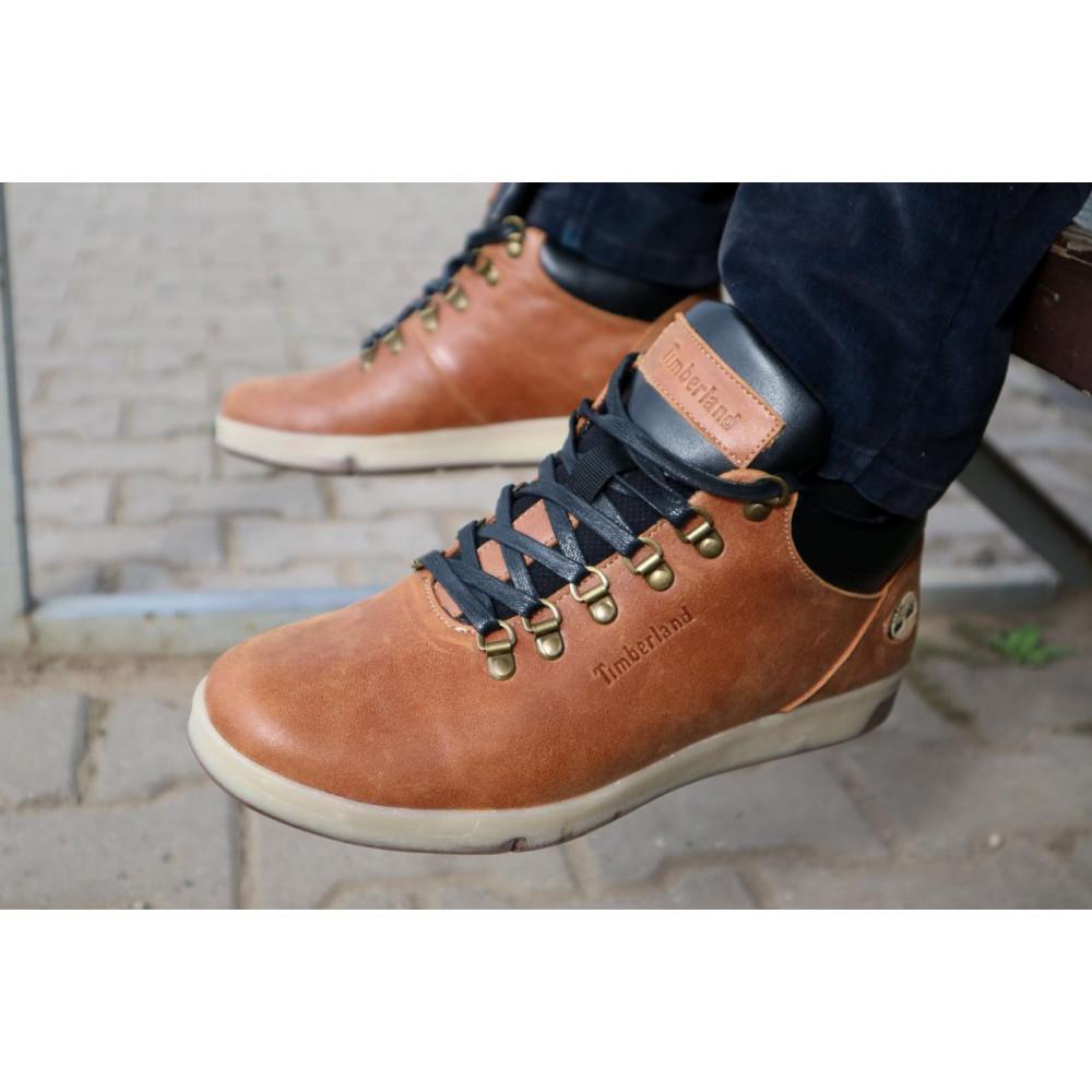 Мужские ботинки зимние - Мужские ботинки кожаные зимние рыжие Yuves 773 6