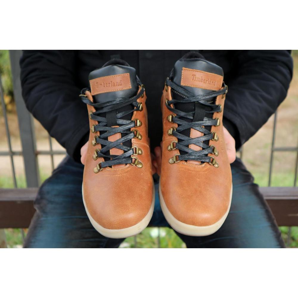 Мужские ботинки зимние - Мужские ботинки кожаные зимние рыжие Yuves 773 5