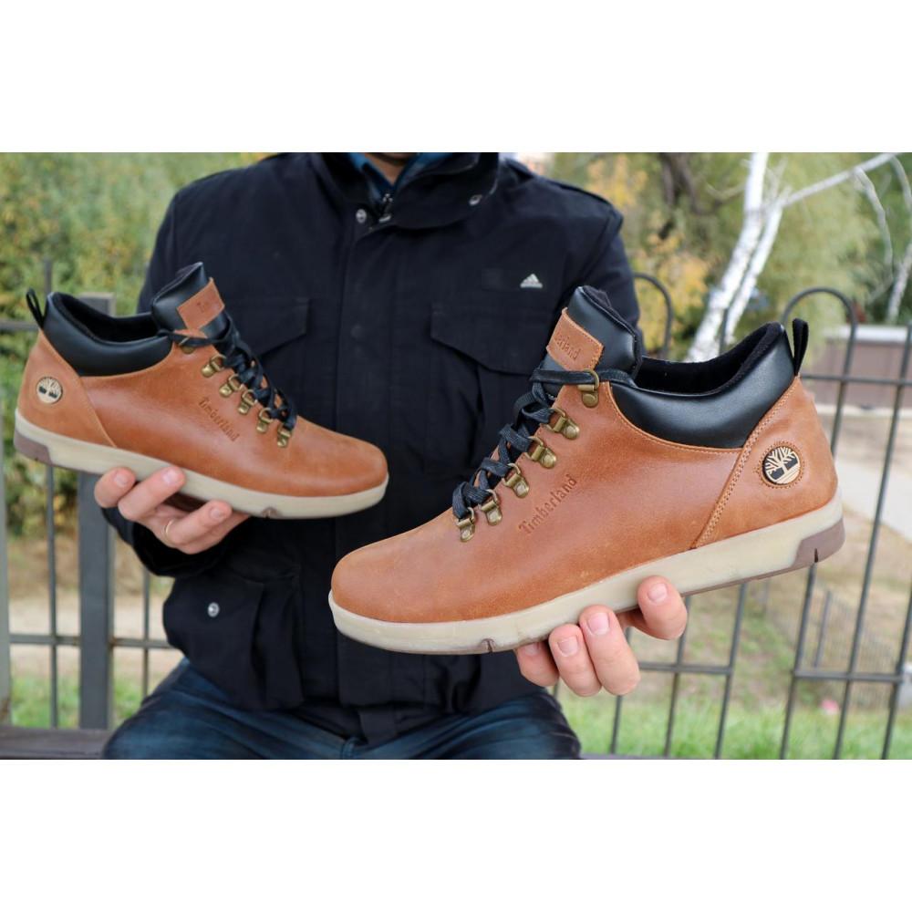 Мужские ботинки зимние - Мужские ботинки кожаные зимние рыжие Yuves 773 4