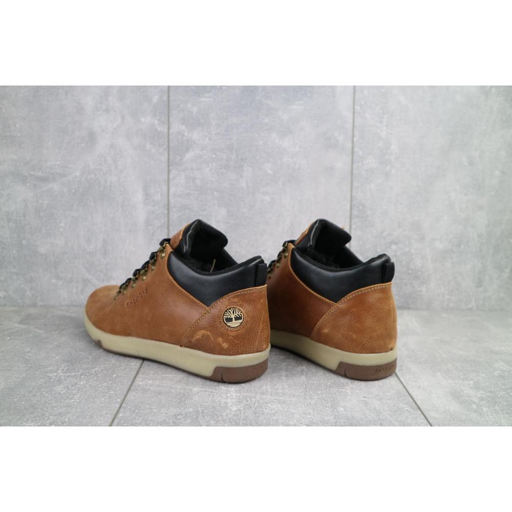 Мужские ботинки зимние - Мужские ботинки кожаные зимние рыжие Yuves 773 3