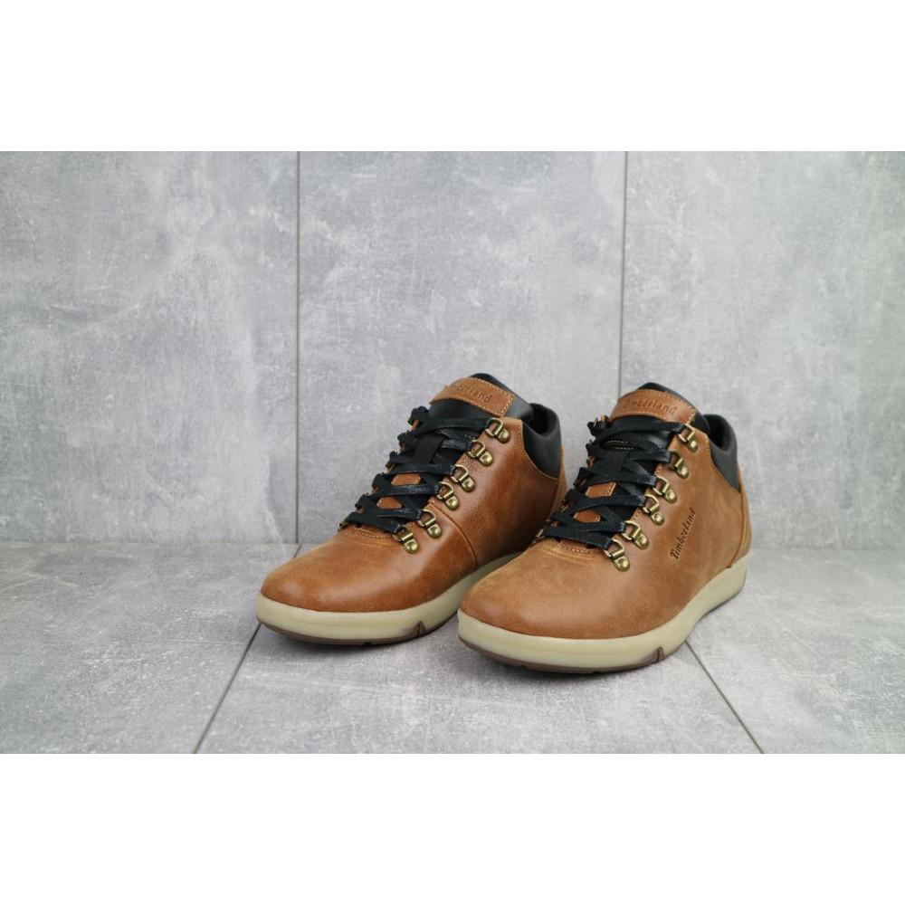 Мужские ботинки зимние - Мужские ботинки кожаные зимние рыжие Yuves 773 2