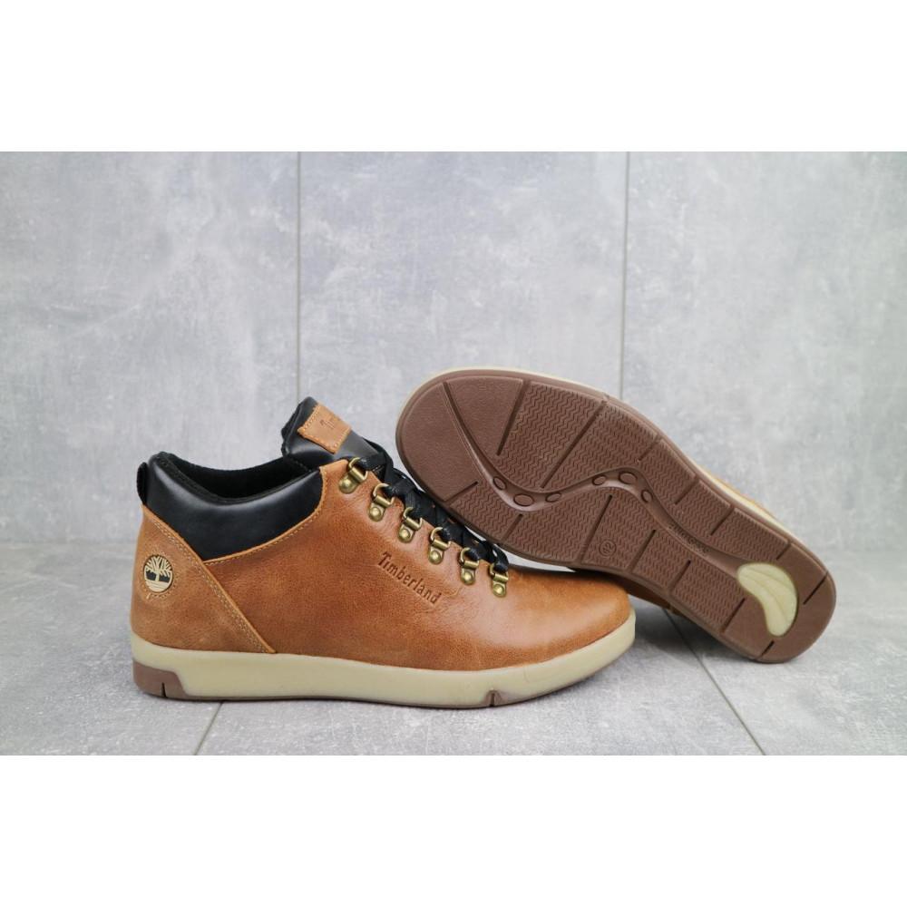 Мужские ботинки зимние - Мужские ботинки кожаные зимние рыжие Yuves 773 1
