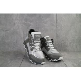 Женские ботинки кожаные весна/осень серые BENZ 50302,1
