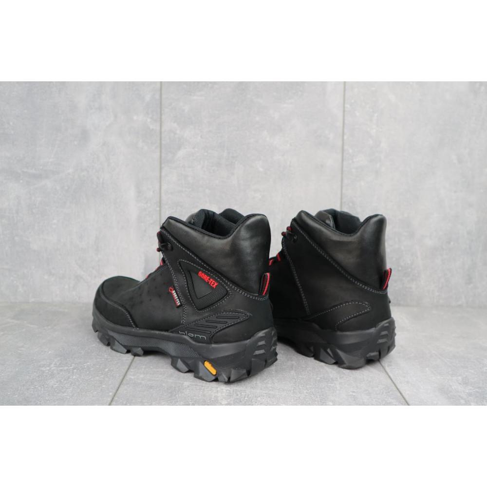 Мужские ботинки зимние - Мужские ботинки кожаные зимние черные-красные Gepard 222 3