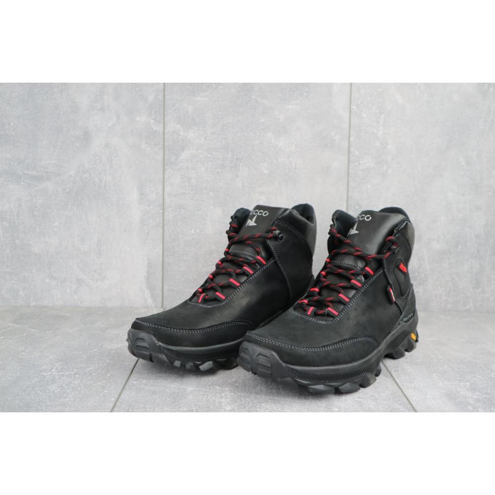 Мужские ботинки зимние - Мужские ботинки кожаные зимние черные-красные Gepard 222 2