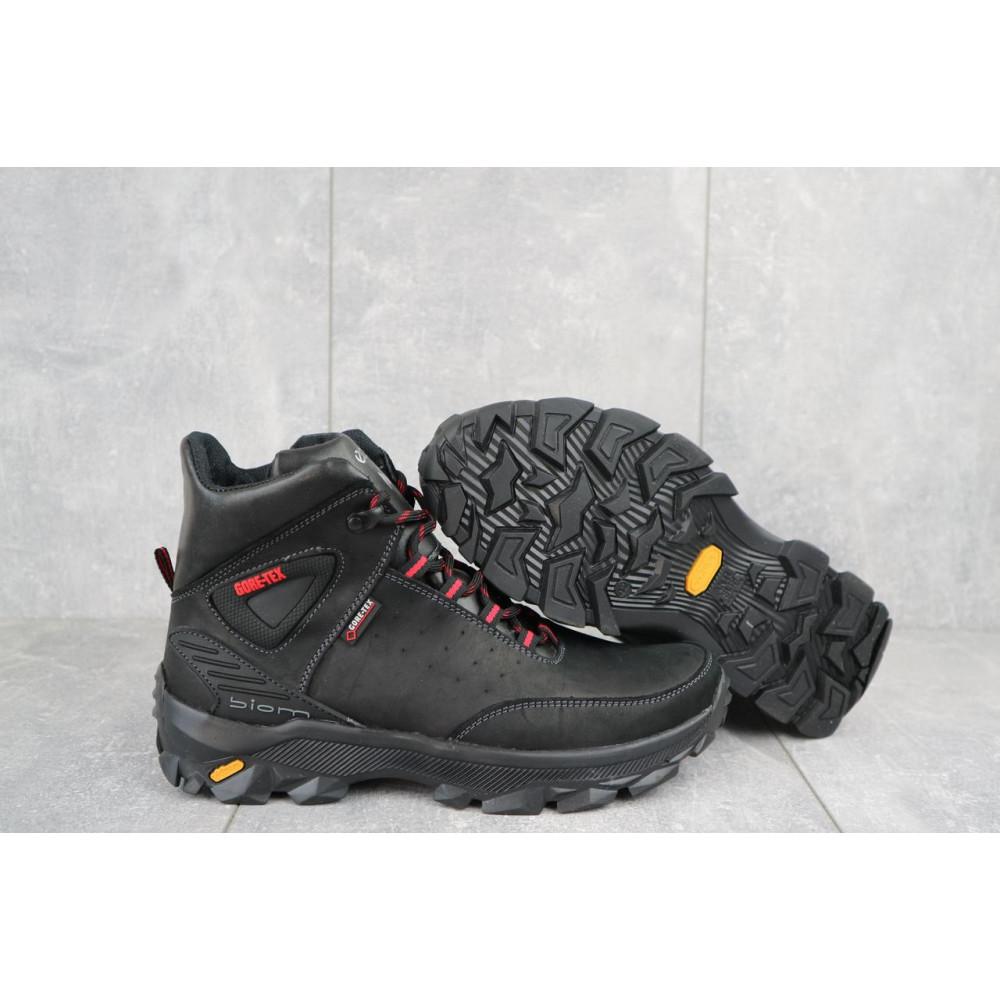 Мужские ботинки зимние - Мужские ботинки кожаные зимние черные-красные Gepard 222 4