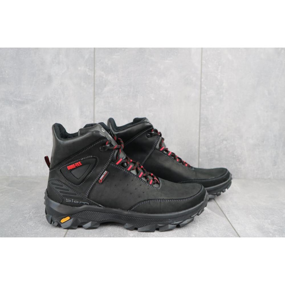 Мужские ботинки зимние - Мужские ботинки кожаные зимние черные-красные Gepard 222 1