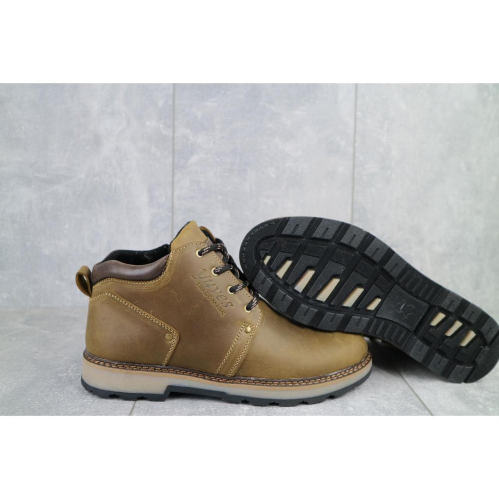Мужские ботинки зимние - Мужские ботинки кожаные зимние оливковые Yuves 781 9