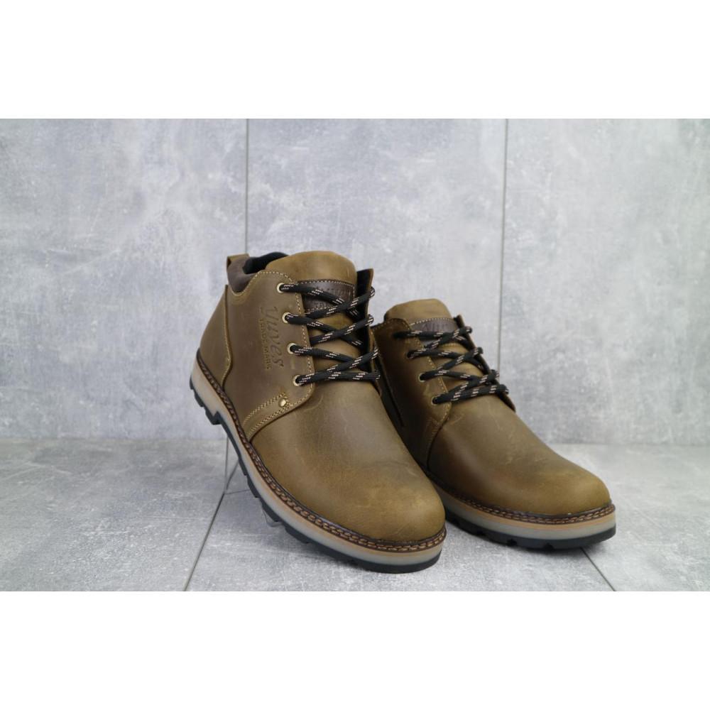 Мужские ботинки зимние - Мужские ботинки кожаные зимние оливковые Yuves 781 2