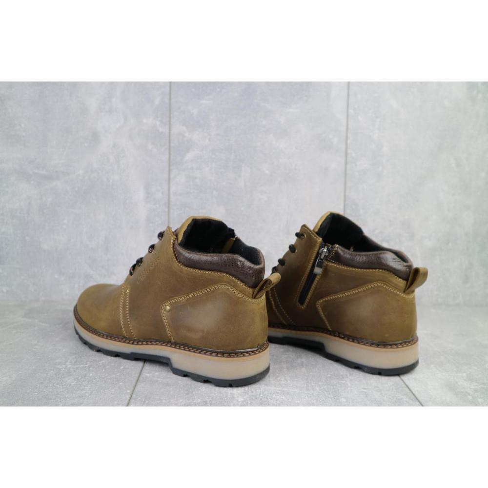 Мужские ботинки зимние - Мужские ботинки кожаные зимние оливковые Yuves 781 1