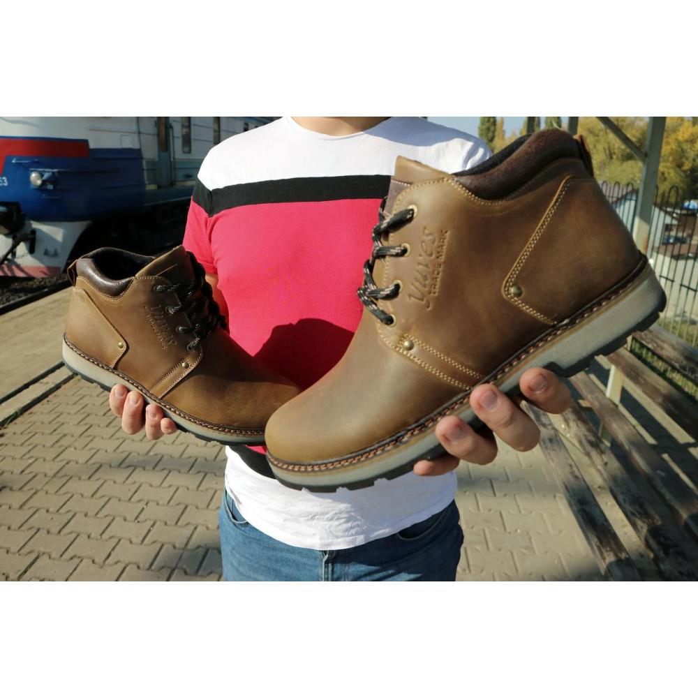 Мужские ботинки зимние - Мужские ботинки кожаные зимние оливковые Yuves 781 8