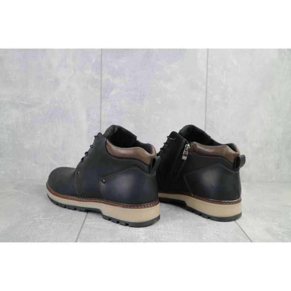 Мужские ботинки зимние - Мужские ботинки кожаные зимние черные-матовые Yuves 781 7