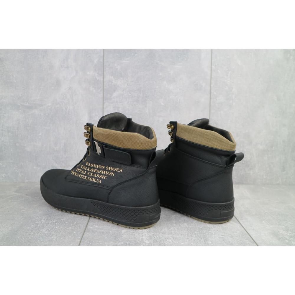 Мужские ботинки зимние - Мужские ботинки кожаные зимние черные Vitex 0210 3