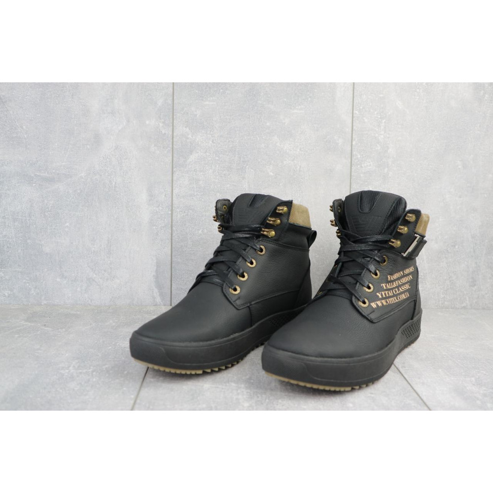 Мужские ботинки зимние - Мужские ботинки кожаные зимние черные Vitex 0210 2