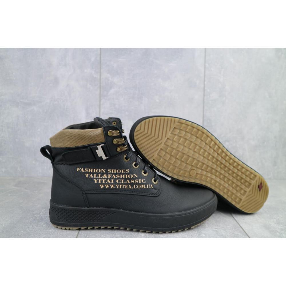 Мужские ботинки зимние - Мужские ботинки кожаные зимние черные Vitex 0210 4