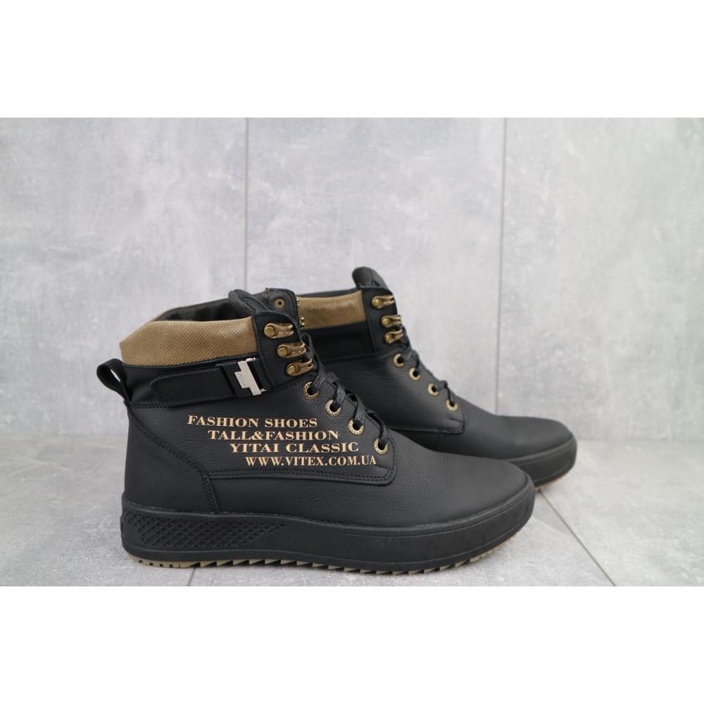 Мужские ботинки зимние - Мужские ботинки кожаные зимние черные Vitex 0210 1