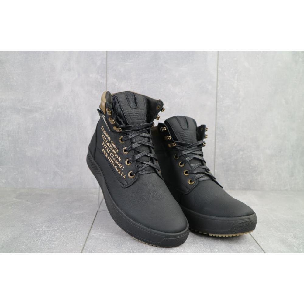 Мужские ботинки зимние - Мужские ботинки кожаные зимние черные Vitex 0210