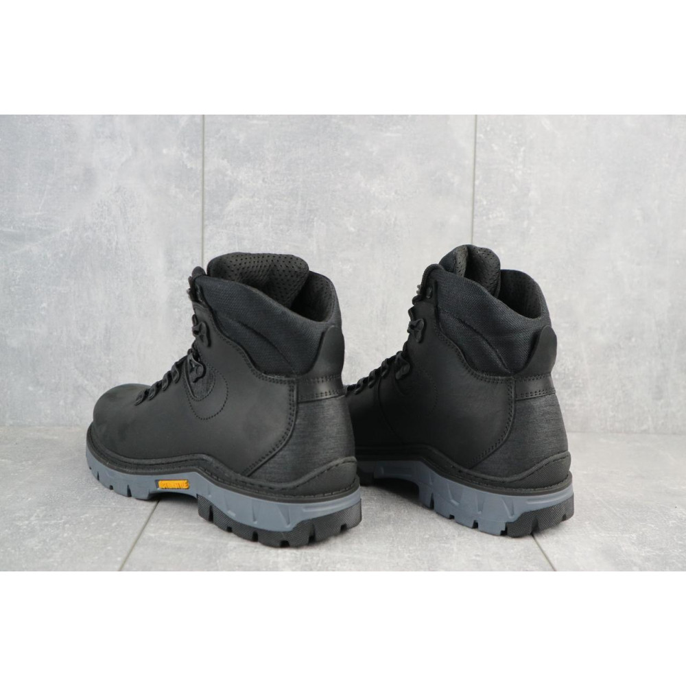 Мужские ботинки зимние - Мужские ботинки кожаные зимние черные Step Wey 5255 3