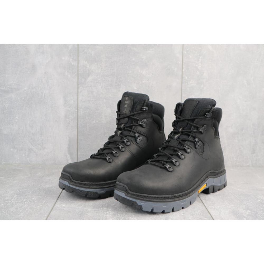 Мужские ботинки зимние - Мужские ботинки кожаные зимние черные Step Wey 5255 2