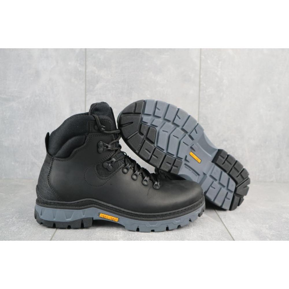 Мужские ботинки зимние - Мужские ботинки кожаные зимние черные Step Wey 5255 4