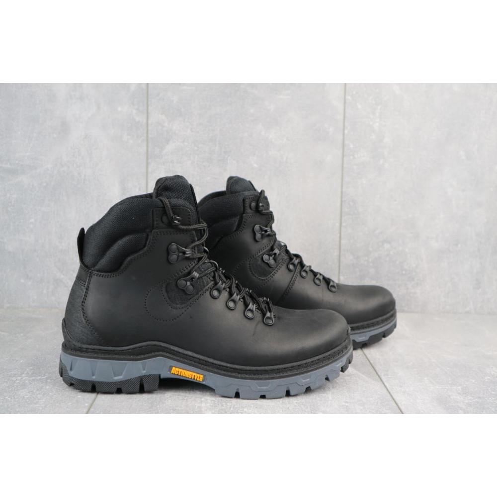 Мужские ботинки зимние - Мужские ботинки кожаные зимние черные Step Wey 5255 1