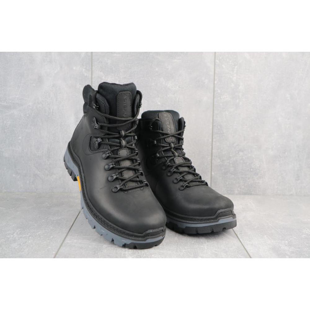 Мужские ботинки зимние - Мужские ботинки кожаные зимние черные Step Wey 5255