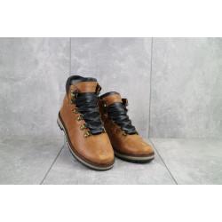 Подростковые ботинки кожаные зимние рыжие Yuves 783