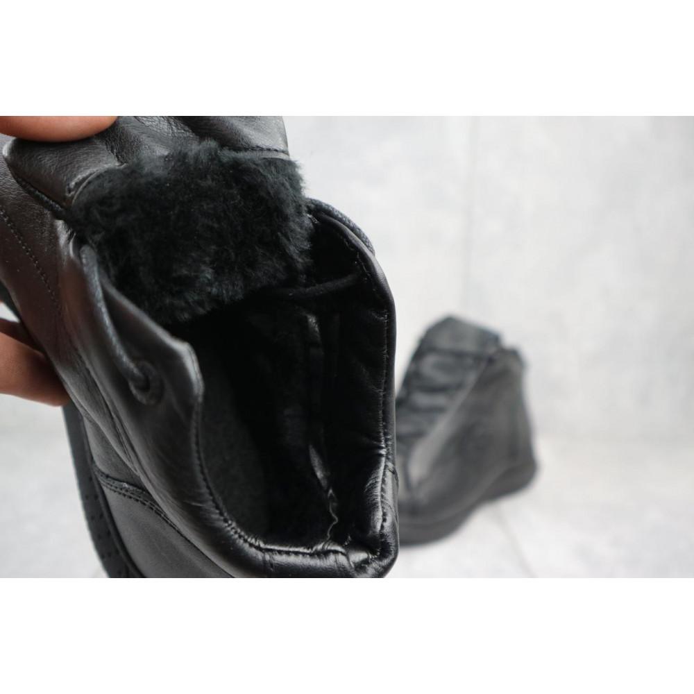 Зимние кроссовки мужские - Мужские кроссовки кожаные зимние черные Yavgor 700 5