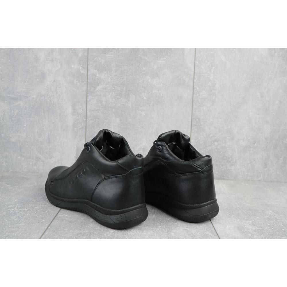 Зимние кроссовки мужские - Мужские кроссовки кожаные зимние черные Yavgor 700 3