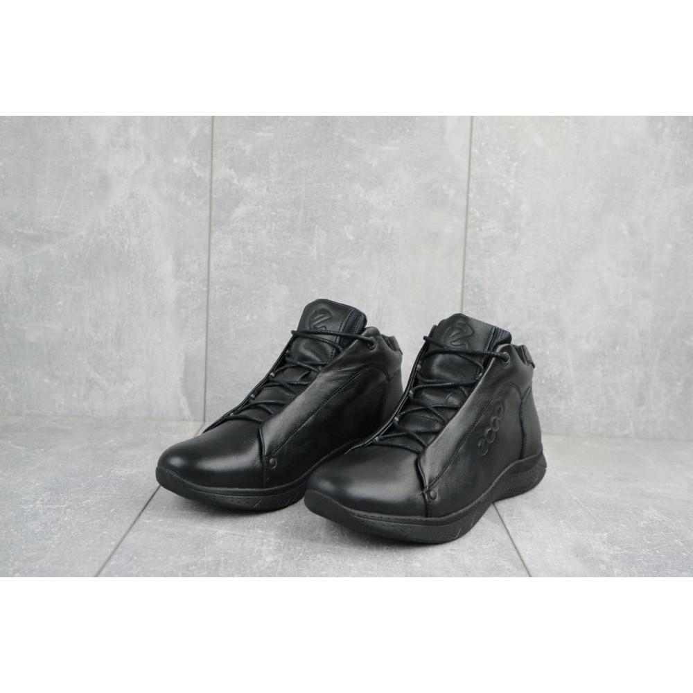 Зимние кроссовки мужские - Мужские кроссовки кожаные зимние черные Yavgor 700 2