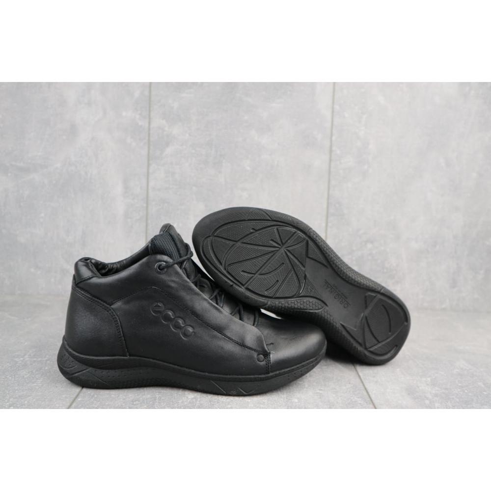 Зимние кроссовки мужские - Мужские кроссовки кожаные зимние черные Yavgor 700 4