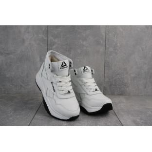 Женские кроссовки кожаные зимние белые-черные Onward Reb-New