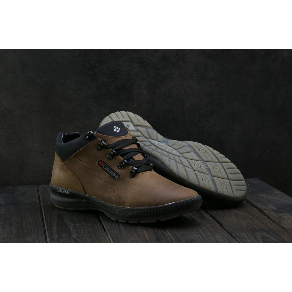 Зимние кроссовки мужские - Мужские кроссовки кожаные зимние оливковые CrosSAV 92 8