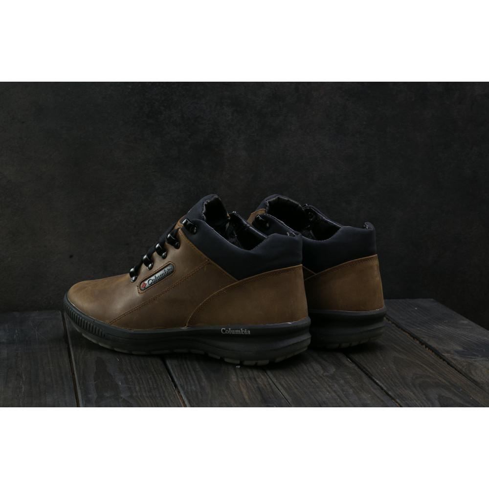 Зимние кроссовки мужские - Мужские кроссовки кожаные зимние оливковые CrosSAV 92 9