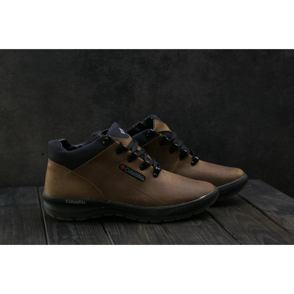 Зимние кроссовки мужские - Мужские кроссовки кожаные зимние оливковые CrosSAV 92 6