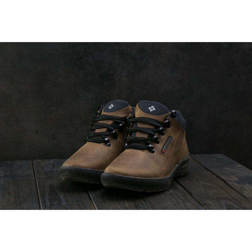 Зимние кроссовки мужские - Мужские кроссовки кожаные зимние оливковые CrosSAV 92